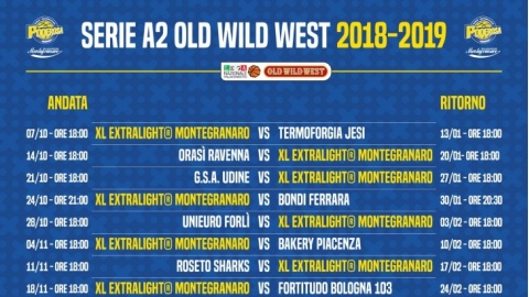 Calendario Serie A2 Basket.Basket Ufficializzato Il Calendario Della Stagione 2018
